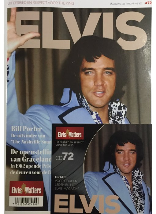 Magazine Met CD - ELVIS 72
