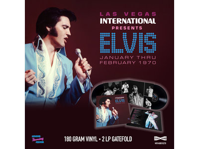 MRS - Las Vegas International Presents Elvis January Thru February 1970 - 2 LP Clear Vinyl Gatefold Set