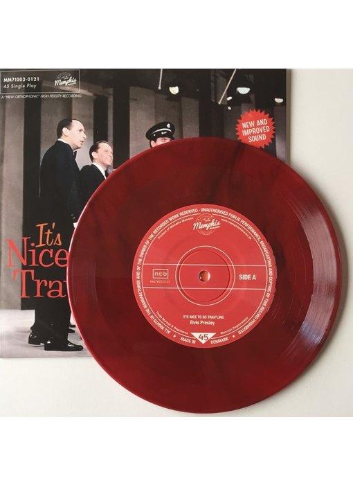Elvis Presley - It's Nice To Go Trav'ling - Red Vinyl Single Memphis Mansion Label
