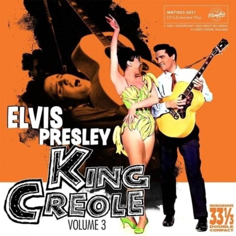 Elvis Presley King Creole Vol 3 - Orange Vinyl EP Memphis Mansion Label