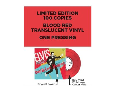Elvis Presley Don't Be Cruel / Hound Dog Japan Edition Re-Issue Red Vinyl