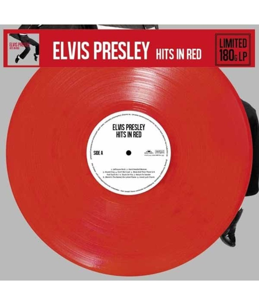 Elvis Presley Hits In Red Colored Red Vinyl Gold Vinyl Label