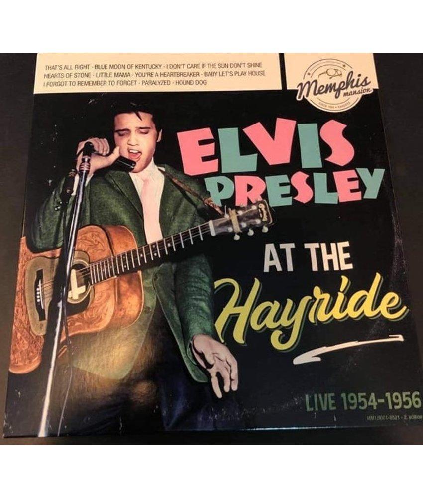 "Elvis Presley - At The Hayride - Live 1954/1956  Black Swirl Vinyl 10"" -  Memphis Mansion Label"