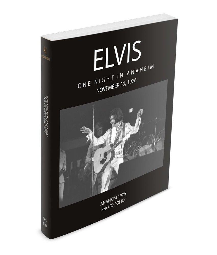 Elvis One Night In Anaheim November 30, 1976 Photo Folio Softcover Book