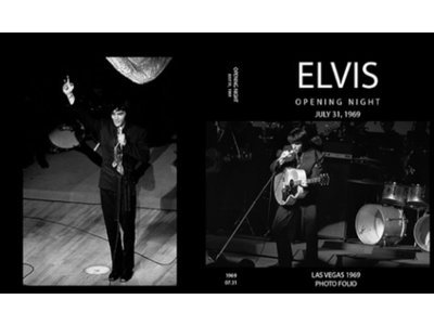 Elvis Opening Night July 31 1969 Photo Folio Softcover Book