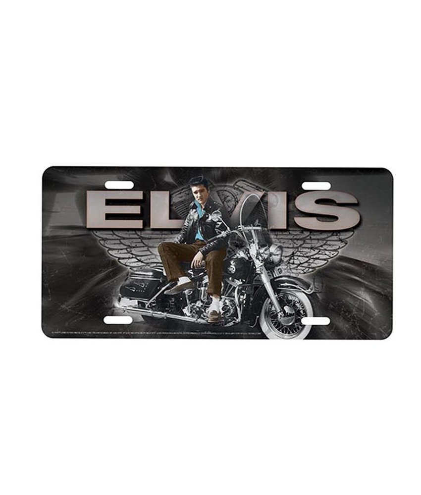 License Plate - Elvis Motorcycle