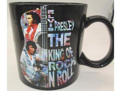 Mok Elvis Presley Guitar Colorful  The King Of Rock 'N Roll