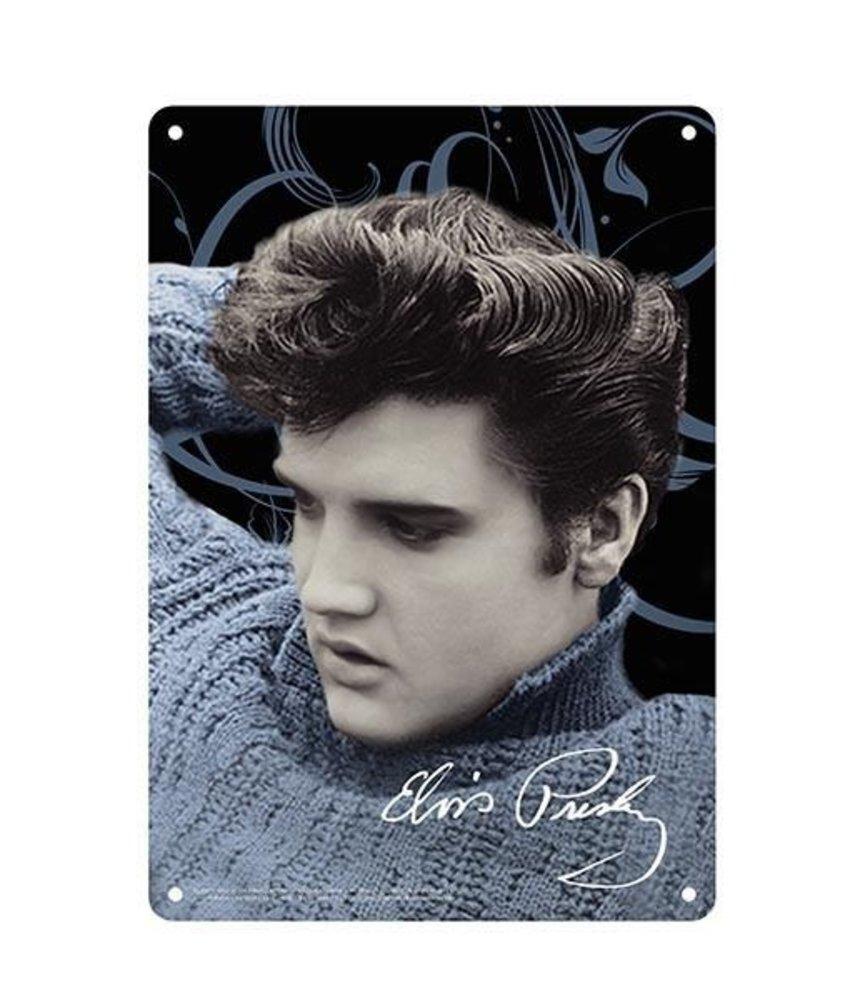 Metal Sign - Elvis Blue Sweater