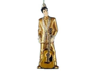 Ornament - Elvis Glass Gold Suit