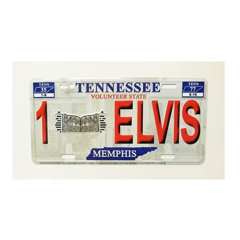 Licenceplate - Red Relief Elvis - Graceland