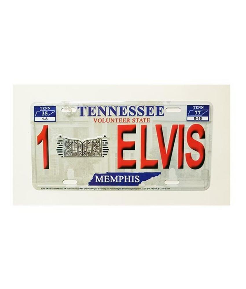 Licenceplate - Red Relief Elvis - Graceland