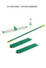 Greenspeed Sprenklerset met 2 microvezel vlakmoppen