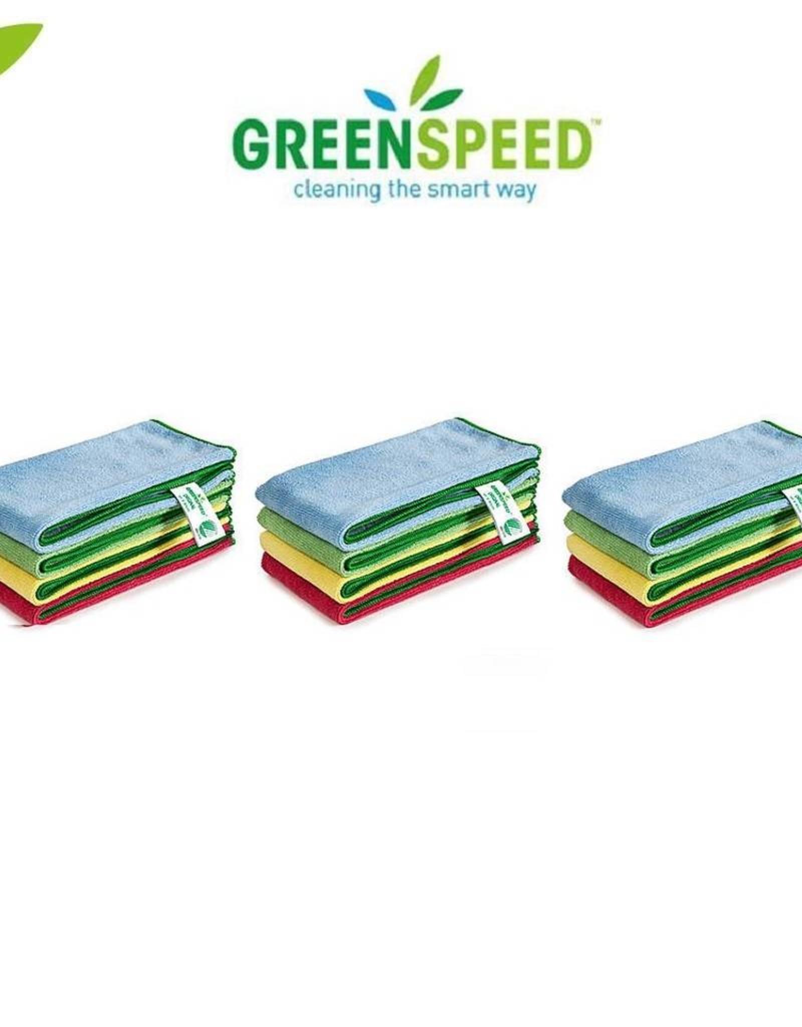 Greenspeed 12 stuks microvezeldoeken ´Original´ Formaat 40 x 40 cm