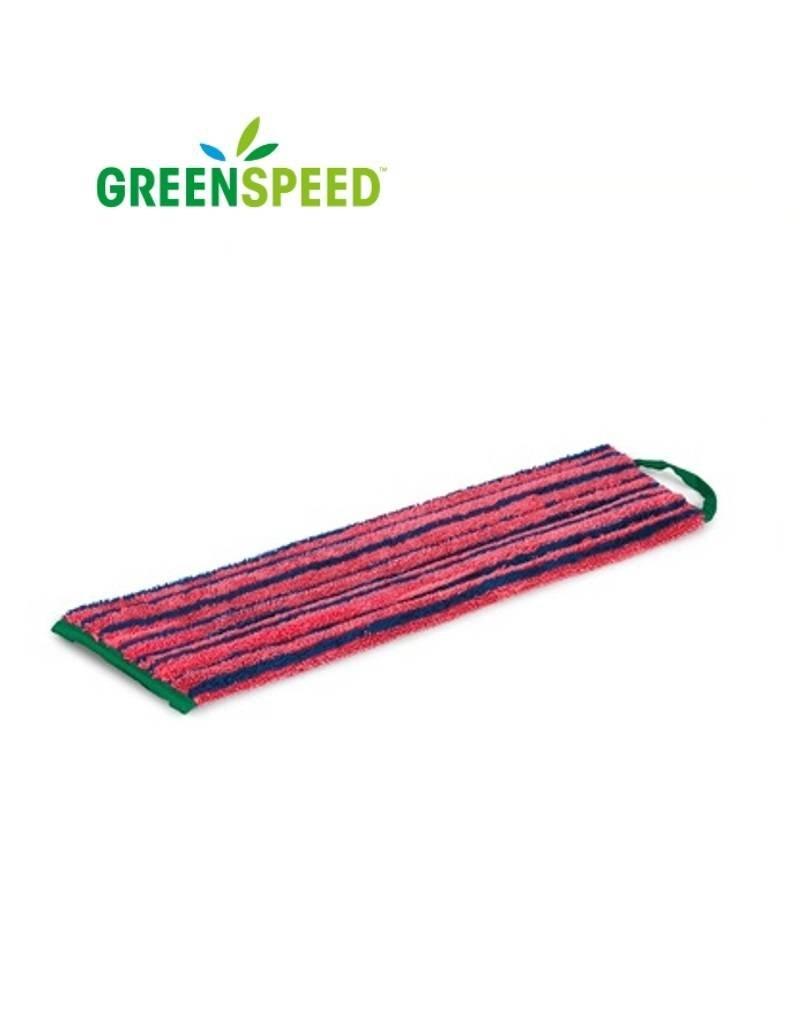 Greenspeed Microvezel vlakmop Rood  met schrobeffect