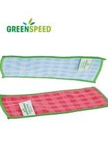 Greenspeed Micro scrubdoekjes , een rode en een blauwe