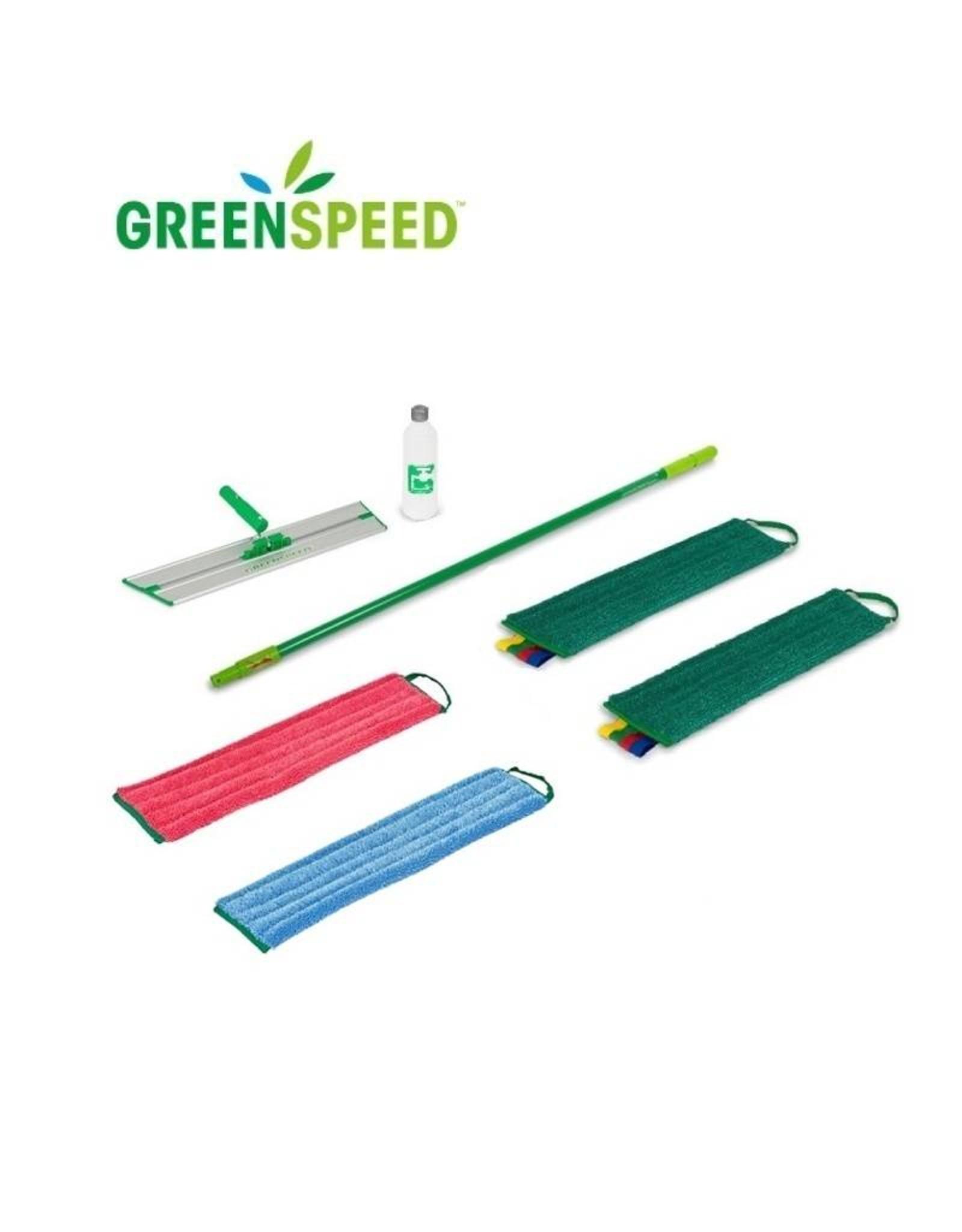 Greenspeed Greenspeed vlakmopset met 3 kleuren vlakmoppen