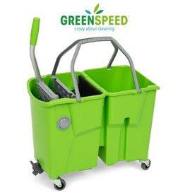 Greenspeed Complete dweilset met dubbele mopemmer