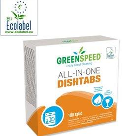 Vaatwastabletten all-in-one 100 stuks. Ecologisch.