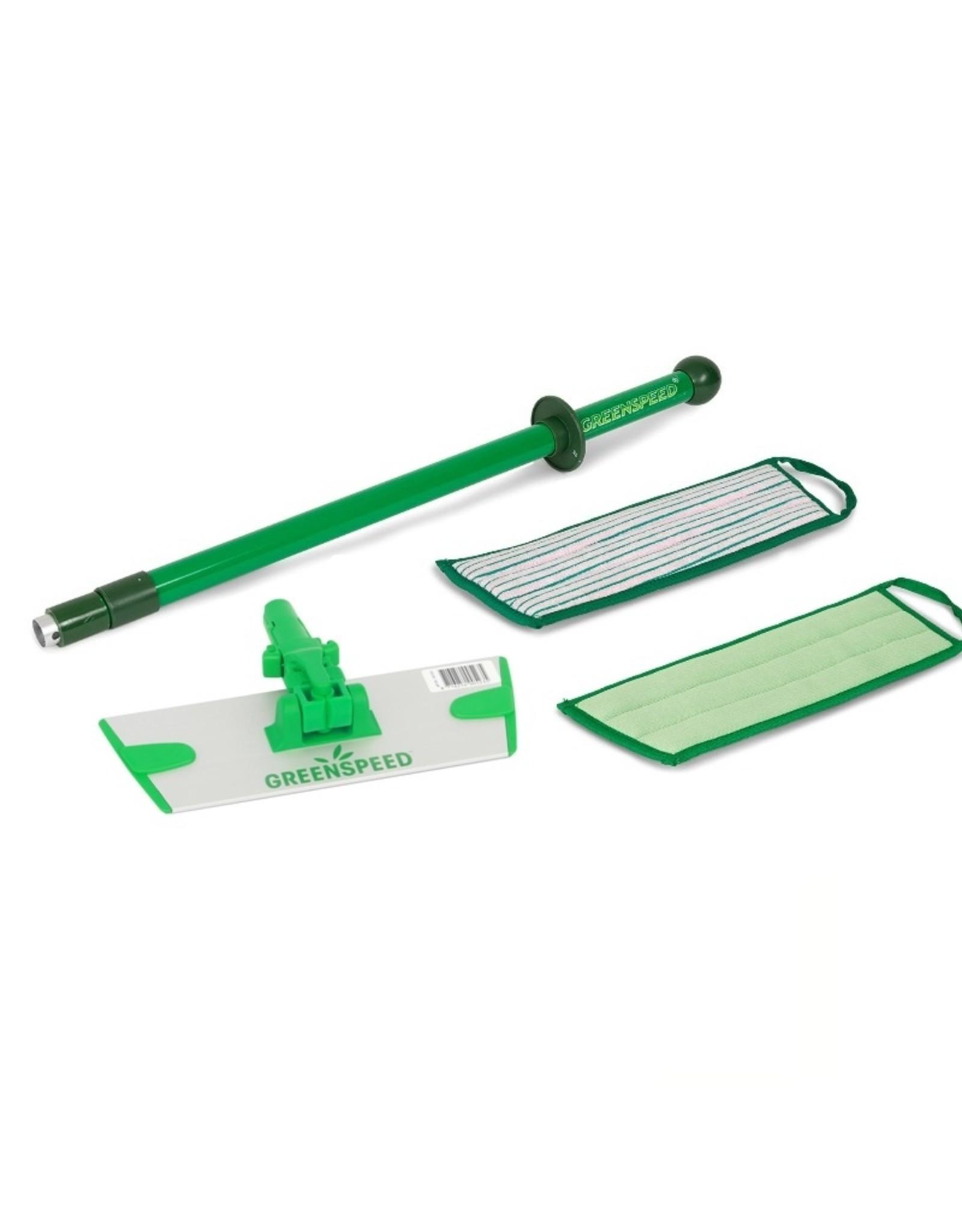 Greenspeed Ideale set met telescoopsteel, plaat en vlakmoppen