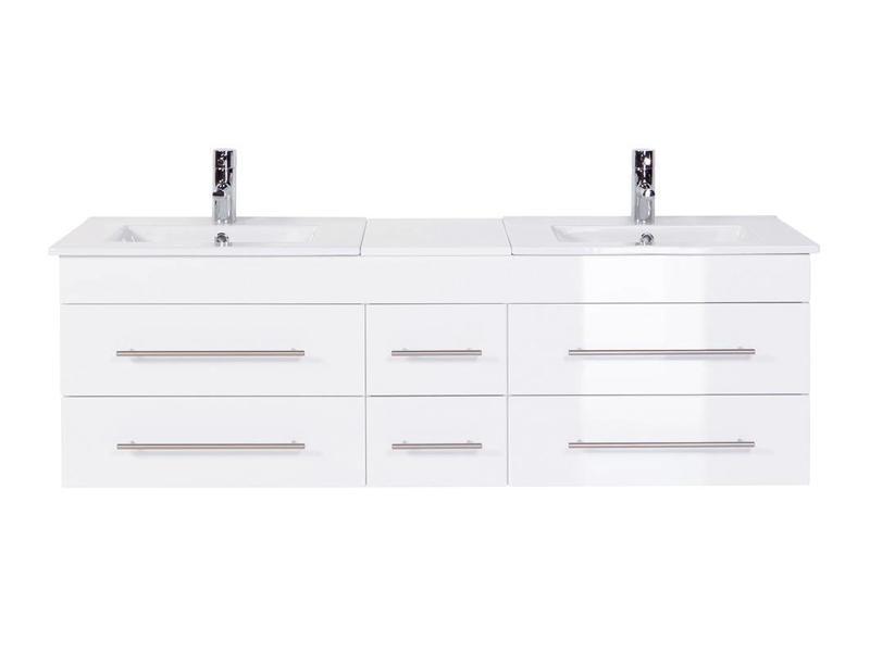 "Badkamermeubel "" Wega XL glossy white """