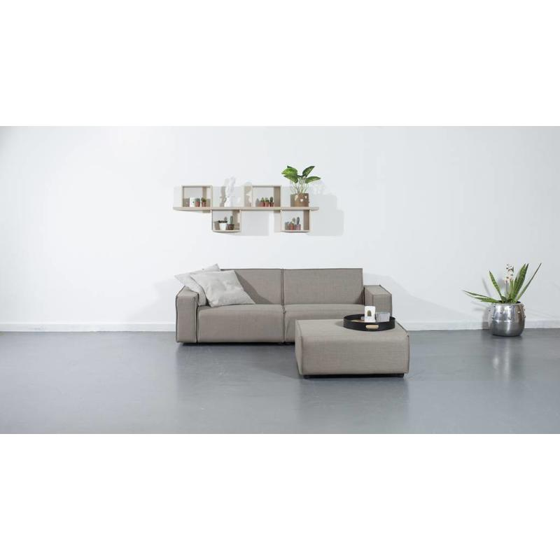 All weather Loungeset + H 220 cm - Taupe's Touch