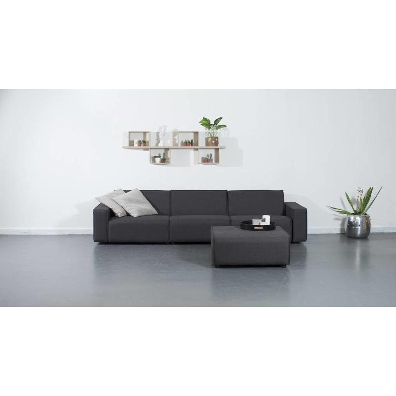 All weather Loungeset + H 312 cm - Cacao Grey