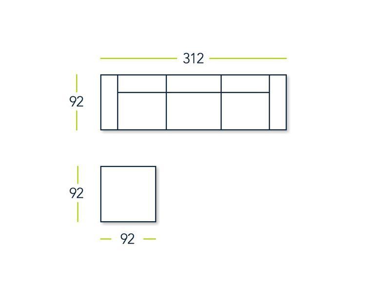 All weather Loungeset + H 312 cm - Denim Drift