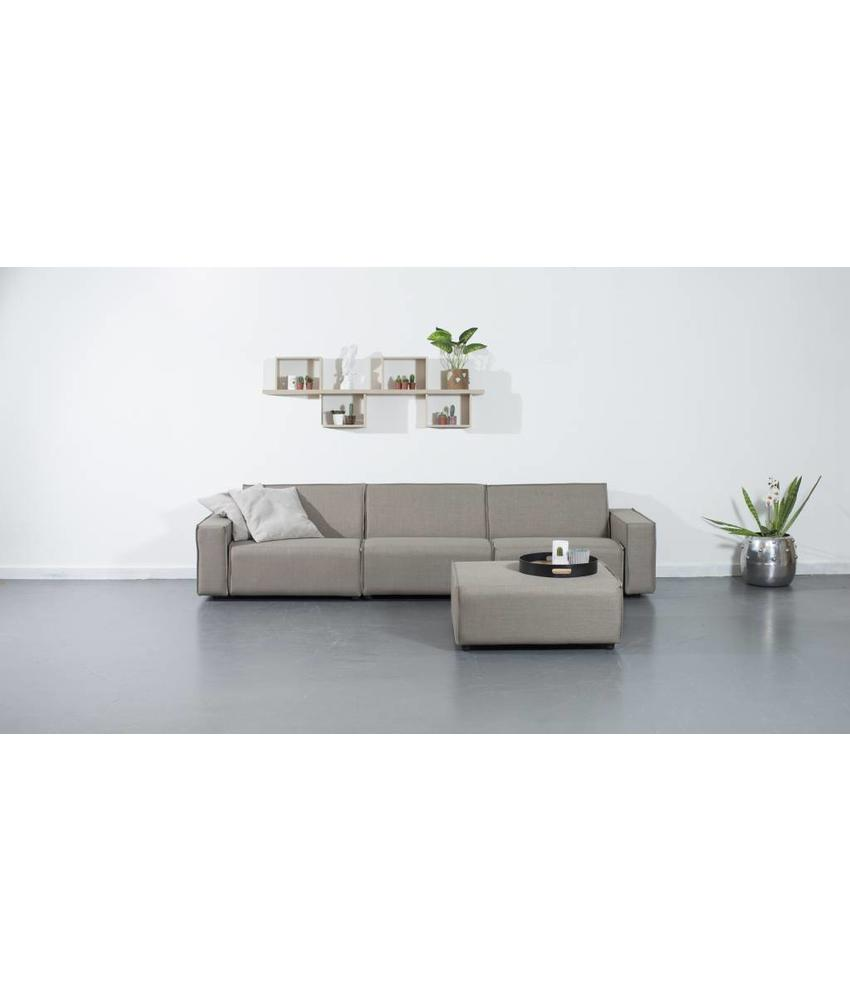 All weather Loungeset + H 312 cm - Taupe's Touch