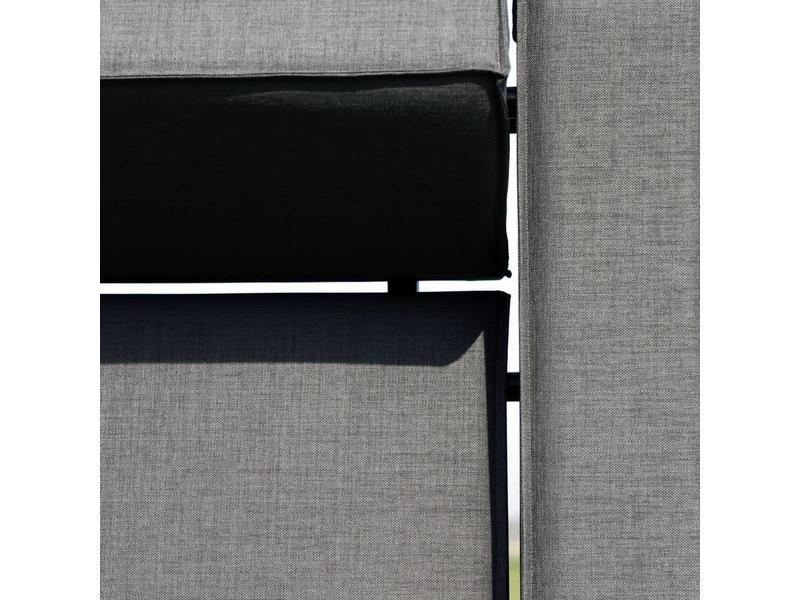 All weather Loungeset + H 199x291 cm - Cacao Grey