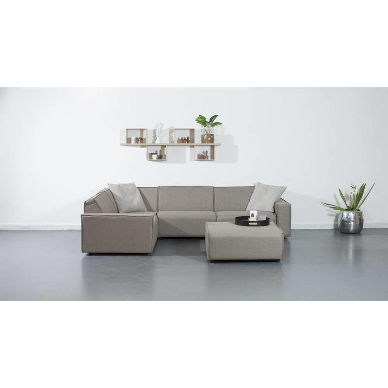 All weather Loungeset + H 199x291 cm - Taupe's Touch