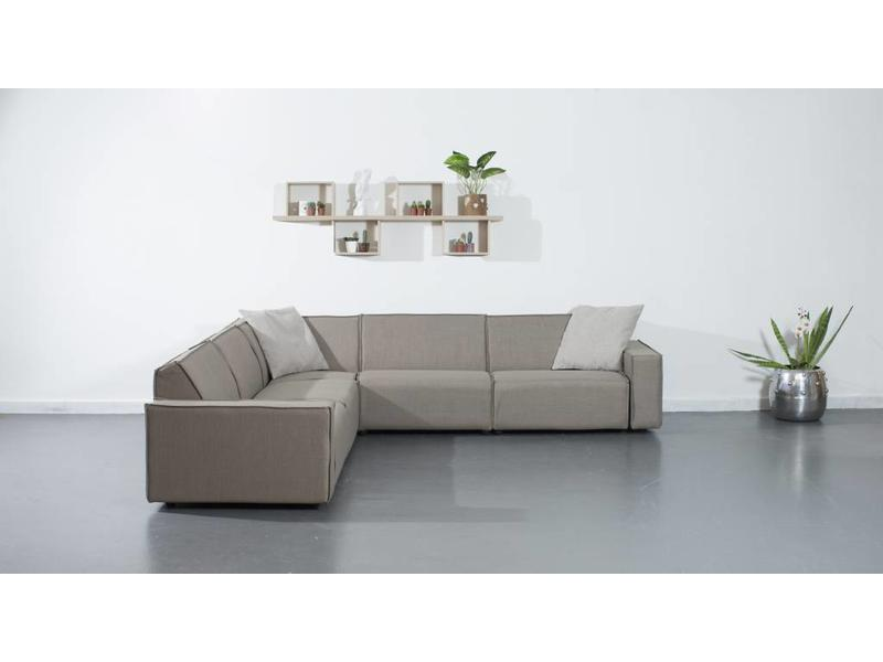 All weather Loungeset 291x291 cm - Taupe's Touch