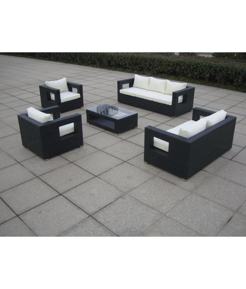 "Loungeset "" Seaside Zwart """