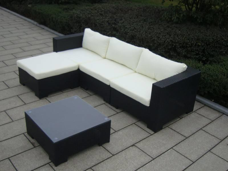 "Loungeset "" Beach Zwart """