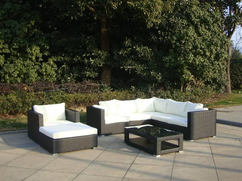 "Loungeset "" Sunset Zwart """