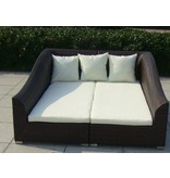 "Loungebank "" Diva set Zwart """