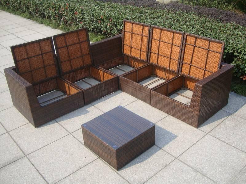 Loungeset Kussens Opbergen : Loungeset met opbergruimte voor kussens surprise bruin