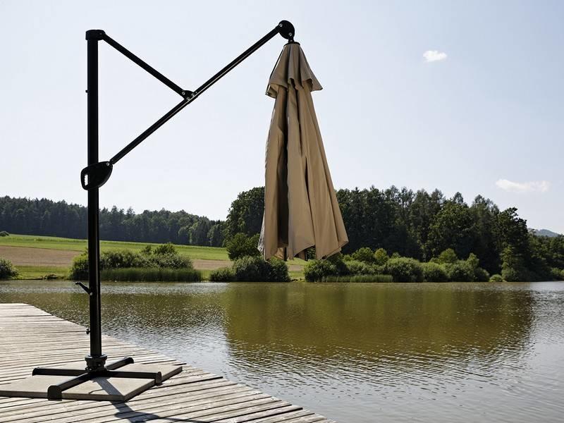 """Parasol """" Fehmarn 3,5 m Champagne """""""