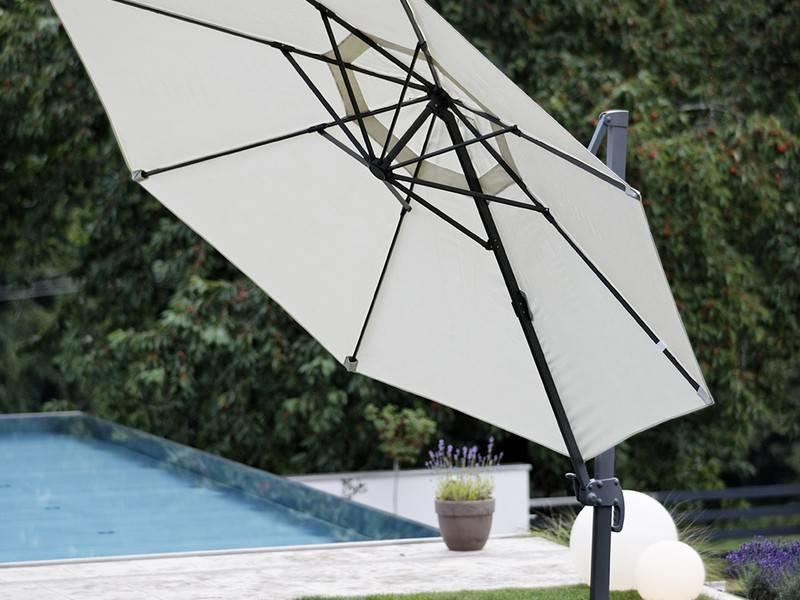 """Parasol """" Poel 3,5 m Grijs """""""