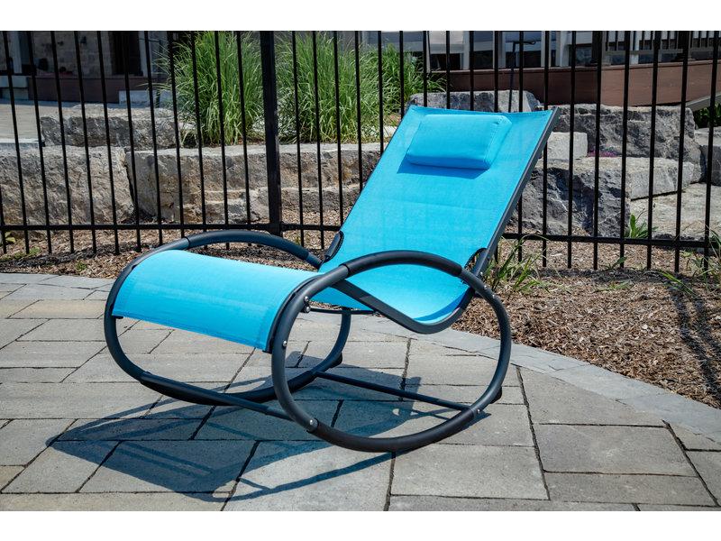"""Tuin schommelstoel """" Wave Rocker Blue """""""