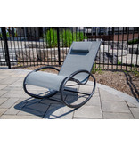 "Tuin schommelstoel "" Wave Rocker Grey/Black """