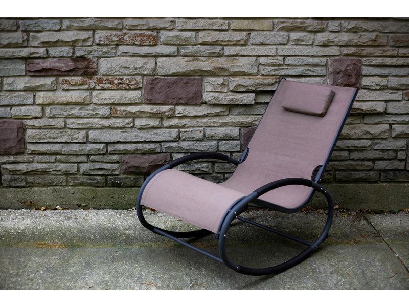 "Tuin schommelstoel "" Wave Rocker Macchiato/Grey """