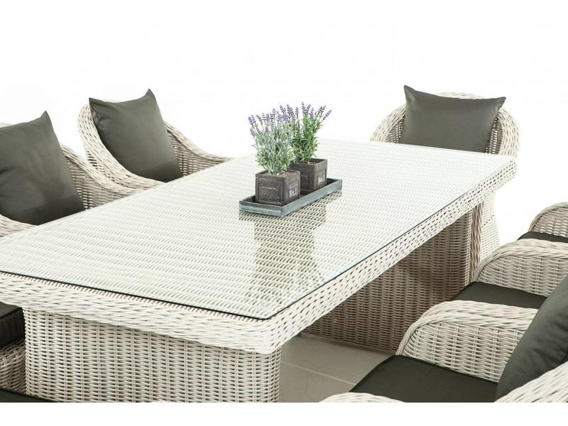 "Tuinset "" Lavello XL Wit-Antraciet """