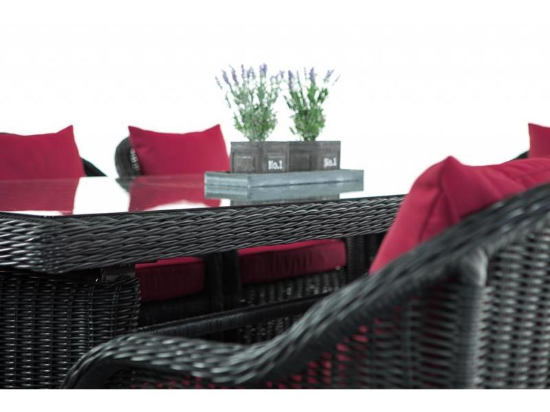 """Tuinset """" Lavello XL Zwart-Rood """""""