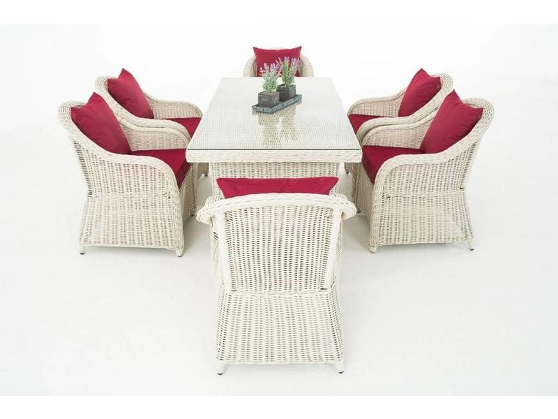 """Tuinset """" Lavello Wit-Rood """""""