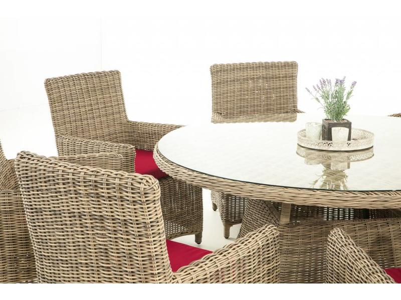 "Tuinset "" Larino XL Naturel-Rood """