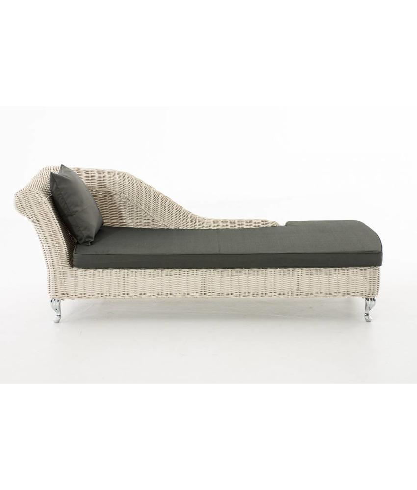 "Chaise longue "" Savannah Wit-Antraciet """