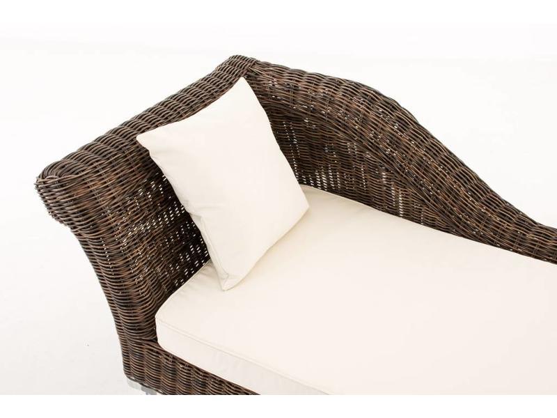 """Chaise longue """" Savannah Bruin-Crème """""""
