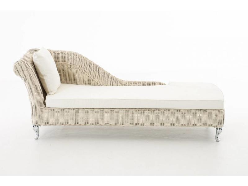 """Chaise longue """" Savannah Wit-Crème """""""