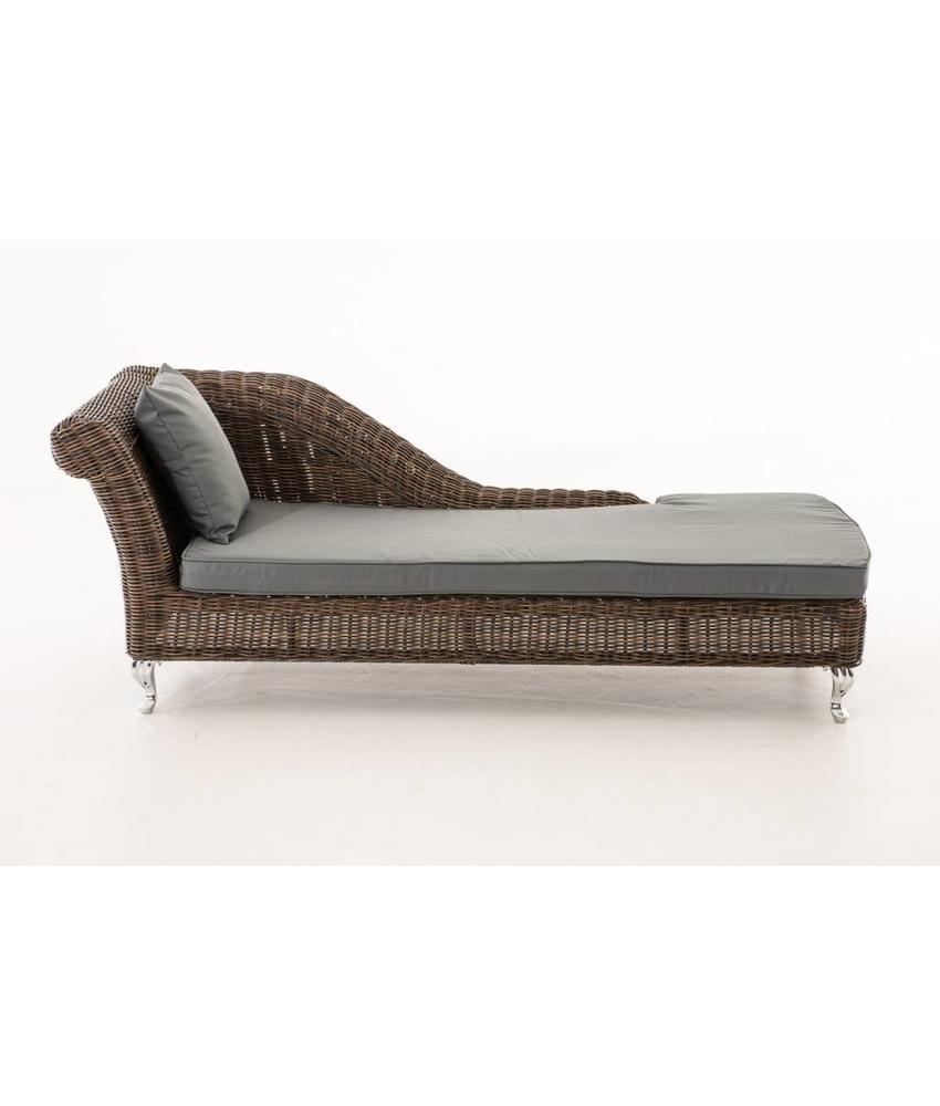 "Chaise longue "" Savannah Bruin-Grijs """