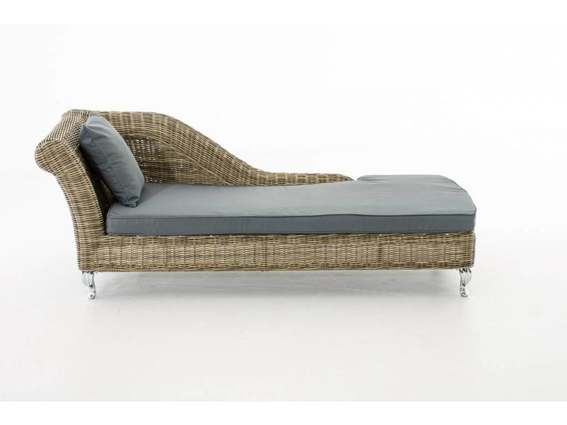 "Chaise longue "" Savannah Naturel-Grijs """
